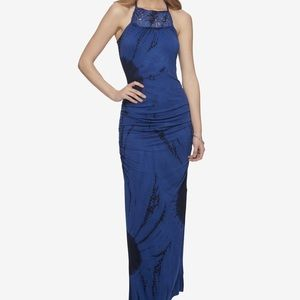 Jessica Simpson // Blue Tie Dye Maxi Dress